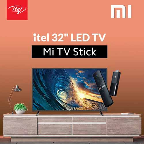 itel TV with Mi Tv Stick